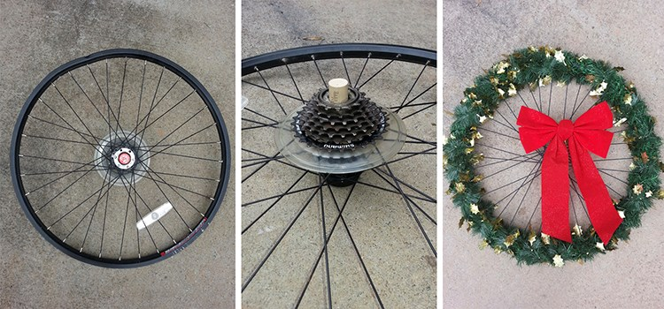 How to Make Your Own Bike Wheel Wreath
