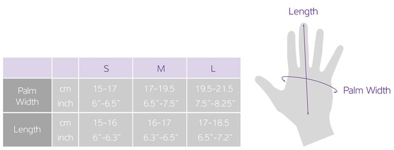 Women's Cycling Gloves Sizing Chart
