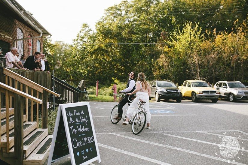 Bike Themed Wedding Arrival