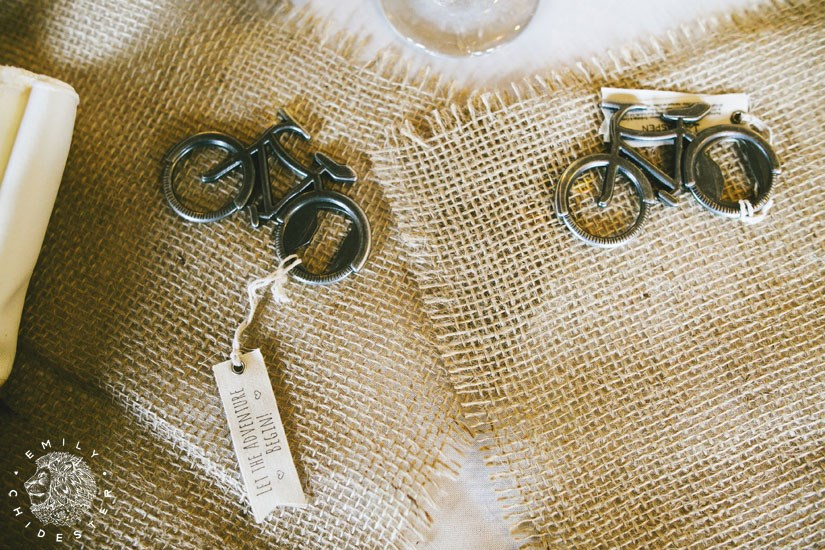Bike Themed Wedding Favors