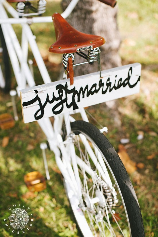 Just Married by bike