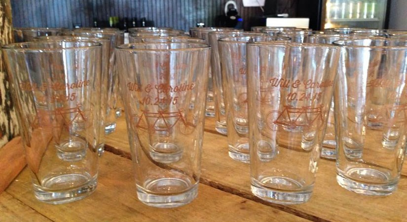 Custom Wedding Pint Glasses