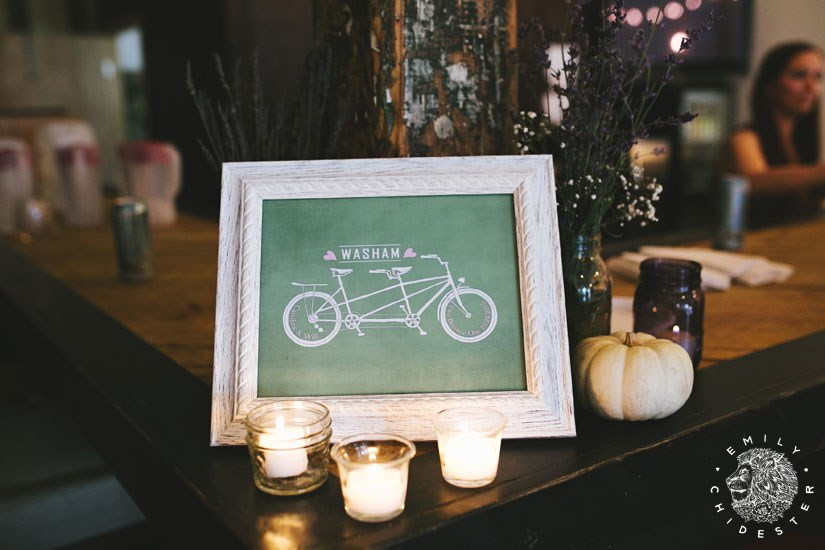Tandem Wedding Sign