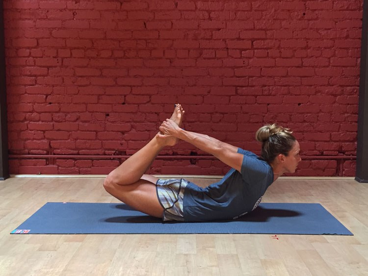 Stretching for Cyclists: Bow Pose